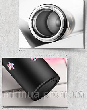 Термос 450мл Zoecho с ситечком розовый, фото 2