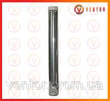 Труба дымохода из оцинкованной стали 1 м, 0.5 мм, ф 100 мм