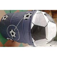 Корзина для игрушек 45*50 Футбол серого цвета с белыми и оранжевыми мячами 2 вида R 1040-41(R1040-41)