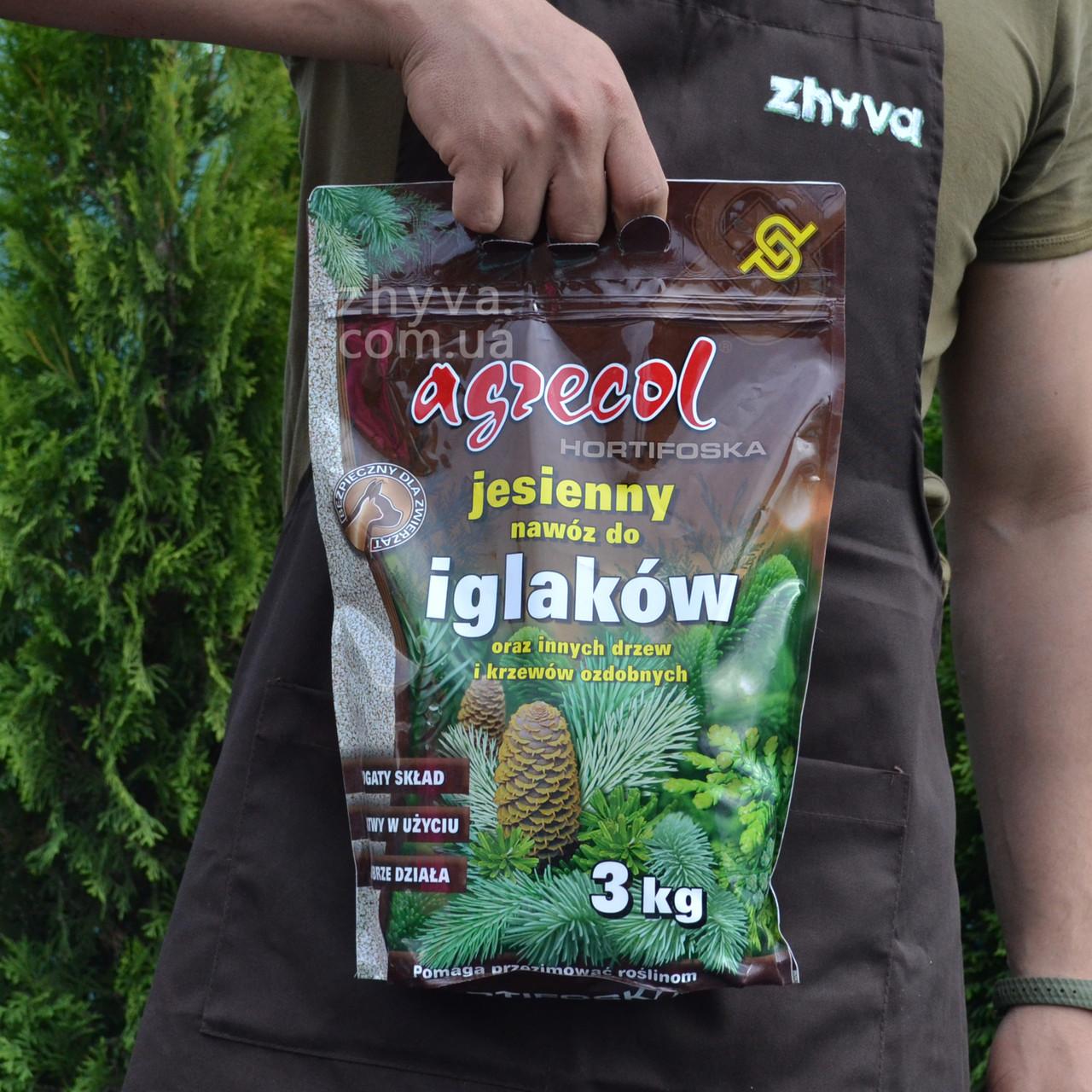 Добриво осіннє Agrecol для хвої Hortifoska 3кг