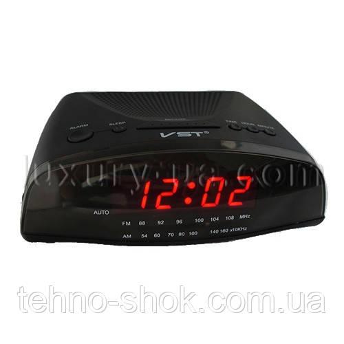 Часы сетевые 905-1 красные