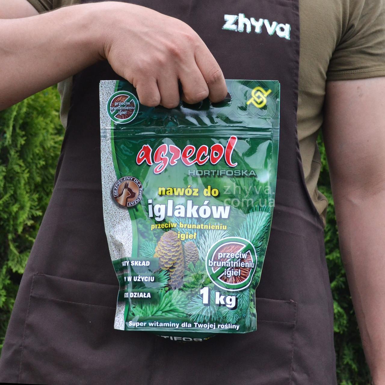 Добриво Agrecol Hortifoska для хвойних рослин від пожовтіння 1кг