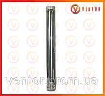 Труба димоходу з оцинкованої сталі 1 м, 0.5 мм, ф 115 мм