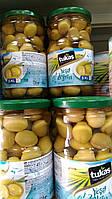 Оливки TUKAS YESIL ZEYTIN (оливки зеленые коктейльные) 720г / 400г, фото 1