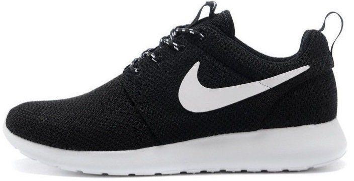 """Женские кроссовки Nike Roshe Run """"Black/White"""" (Найк Роше Ран) черные"""