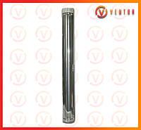 Труба дымохода из оцинкованной стали 1 м, 0.5 мм, ф 165 мм