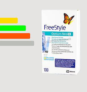 Полоски для глюкометра Фристайл Оптиум №100 - Freestyle Optium, фото 2