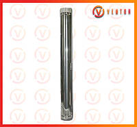 Труба димоходу з оцинкованої сталі 1 м, 0.5 мм, ф 200 мм