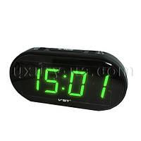 Часы сетевые 801-2 зеленые