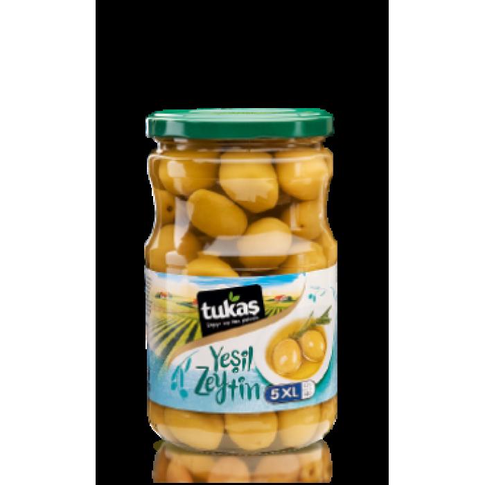 Оливки YESIL ZEYTIN, 400 г, 5XL  (оливки зеленые коктейльные) ТМ TUKAS