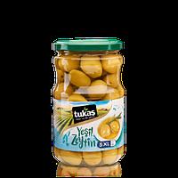 Оливки YESIL ZEYTIN, 400 г, 5XL  (оливки зеленые коктейльные) ТМ TUKAS, фото 1