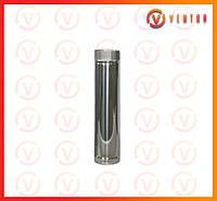 Труба дымохода из оцинкованной стали 0.5 м, 0.5 мм, ф 110 мм