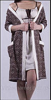 Комплект халат и ночная сорочка для беременных и кормления грудью в роддом S/М