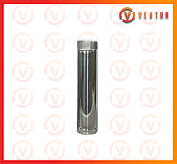 Труба дымохода из оцинкованной стали 0.5 м, 0.5 мм, ф 120 мм
