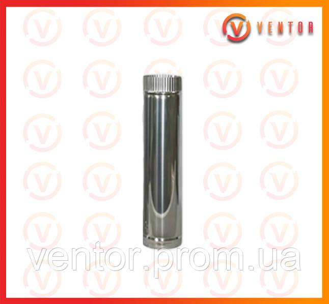 Труба дымохода из оцинкованной стали 0.5 м, 0.5 мм, ф 140 мм