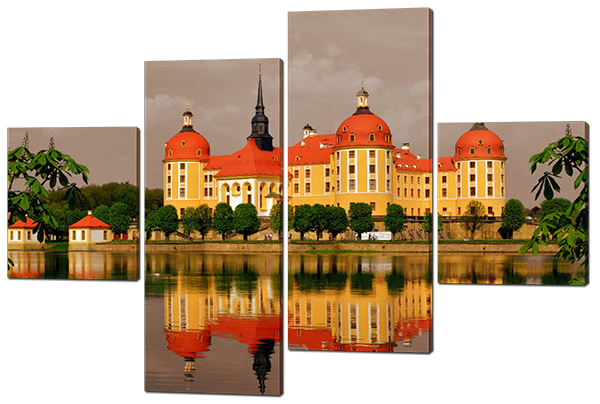 Модульная картина Замок Морицбурк. Германия