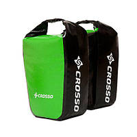Велосумка Crosso DRY SMALL 30 L Adventure Зелёная (Велобаул, Велорюкзак на багажник) (CO1010A-green)