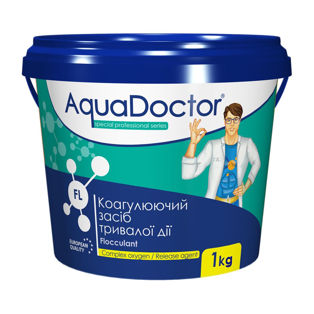 Коагулирующее средство в гранулах AquaDoctor FL 1 кг. Средство против мутности и для осветления воды бассейна