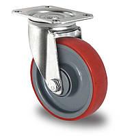 Поворотное колесо диаметром 100 мм с полиуретановым контактным слоем и с шариковым подшипником нагрузка 150 кг