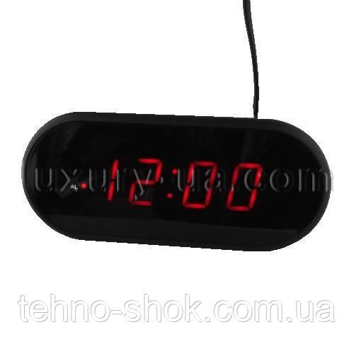 Часы сетевые 712-1 красные