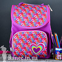 Рюкзак каркасный  Smart 554440 PG-11 Hearts pink, 31*26*14