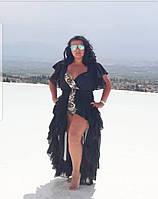 Платье пляжное, туника, парео, накидка на купальник черная и белая