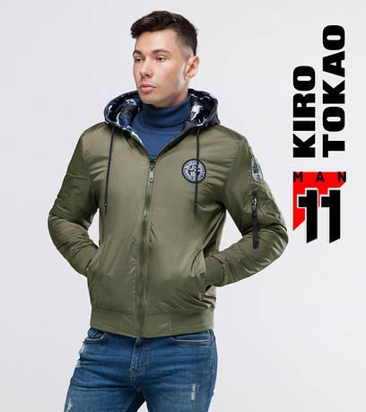 11 Kiro Tokao | Осенний мужской двухсторонний бомбер 322 хаки-камуфляж