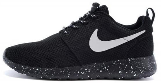 """Женские кроссовки Nike Roshe Run """"Black"""" (Найк Роше Ран) черные"""