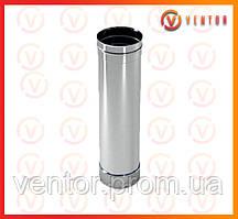 Труба дымохода из нержавеющей стали 0,5 м, 0,5 мм, ф 100 мм