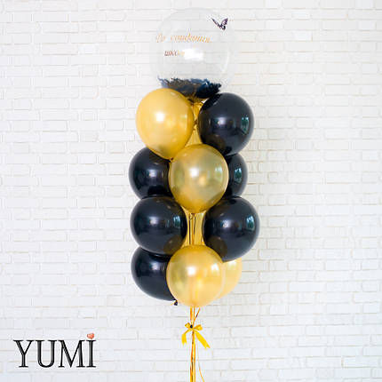 Букет из шариков с гелием на выпускной, фото 2