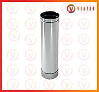 Труба дымохода из нержавеющей стали 1 м, 0,5 мм, ф 115 мм