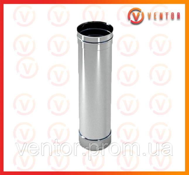 Труба дымохода из нержавеющей стали 1 м, 0,5 мм, ф 150 мм
