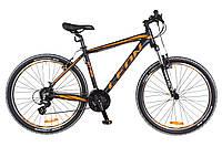 """Горный женский велосипед 26"""" LEON HT 85 2018 черно-оранжевый"""