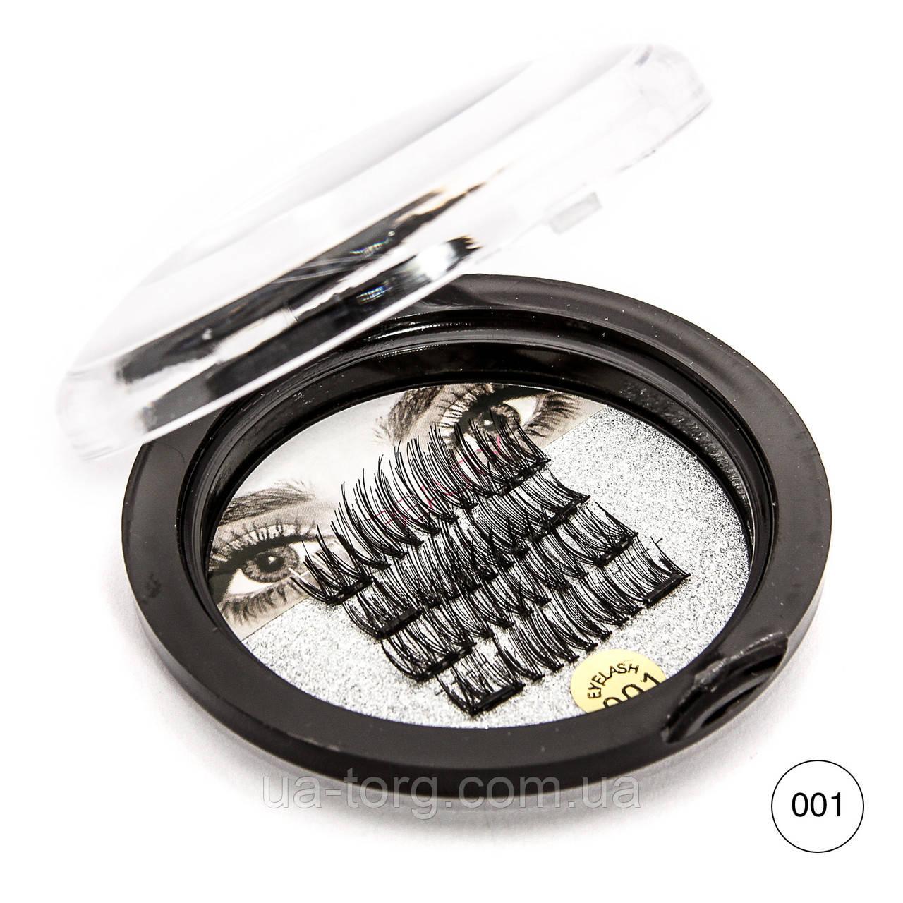 Ресницы на магните  HUDA BEAUTY №001 (на двух магнитах)