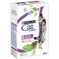 Пурина Кэт Чау 0,4 кг - cухой корм для кошек против образования комков шерсти c курицей