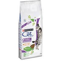 Пурина Кэт Чау 15 кг - cухой корм для кошек против образования комков шерсти c курицей