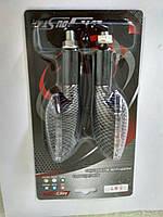 Повороты светодиодные (пара) стрела, карбон, белое стекло, №234092