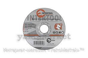 Круг отрезной по металлу Intertool - 115 х 1,0 х 22,2 мм