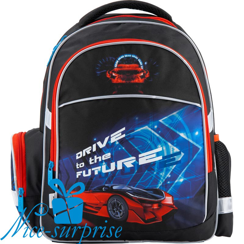 a0b2c9f5e6e6 Ортопедический школьный рюкзак для мальчика Kite Super car K18-510S-2 -  Интернет-
