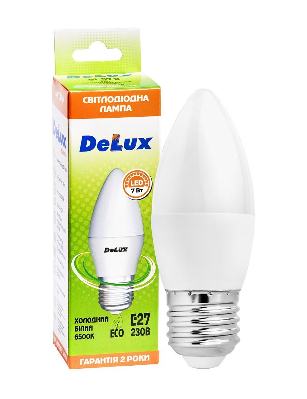 Лампа світлодіодна DELUX BL37B 7Вт 6500K 220В E27