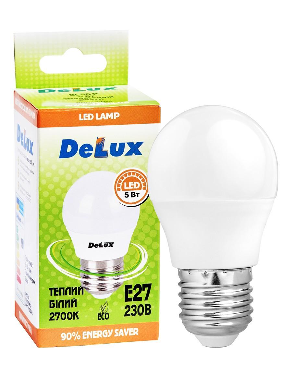 Лампа світлодіодна DELUX BL50P 5Вт 2700K 220В E27