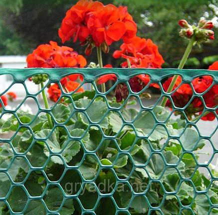 Декоративная садовая решетка BN-50 зеленая 0,5х30м, фото 2