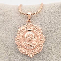 Иконка Казанская Божья Матерь 70091, размер 43*29 мм, позолота РО