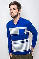 Трикотажный пуловер с воротником стойкой