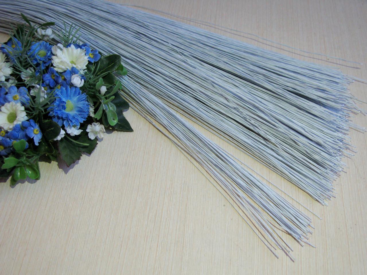 Проволока флористическая тейпированная. Диаметр 0.5 мм. Белая 26 грн - 50 шт (длина 60 см)