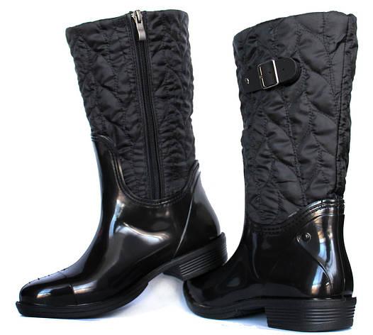 36 р Гумові утеплені жіночі чоботи чорні (Ч-12н) cf1c6450a84a6