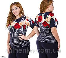 Блуза женская батал  модель БЛ012к