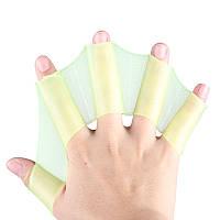 Ласты для рук силиконовые. Желтый, S