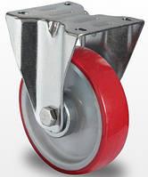 Неповоротное колесо диаметром 100 мм с полиуретановым контактным слоем и с шариковым подшипником