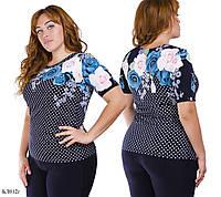 Блуза женская батал  модель БЛ012г